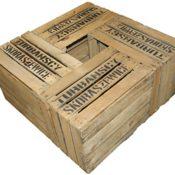 4 Stück bedruckte massive Obstkisten TS gebraucht +++ Weinkisten - Obstkisten - Apfelkisten - Holzkisten