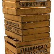 3er set massive Obstkiste Apfelkiste Weinkiste aus dem Alten Land +++ 49 x 42 x 31 cm (GEBRAUCHT MIT AUFSCHRIFT