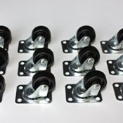 12 Stück 25 mm Möbelrollen Lenkrollen Transportrollen Laufrolle Kunststoffrad