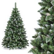 künstlicher Weihnachtsbaum PREMIUM Tannenbaum Chrisbaum künstlich Kunstbaum künstliche Weihnachtsbäume -- 180cm NATUR-WEISS