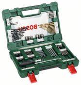 Bosch DIY 91tlg. V-Line Titanium-Bohrer- und Bit-Set mit Ratschen-Schraubendreher und Magnetstab - 1